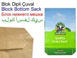 PP Woven Bag Producers TurkKraft BLOCK BOTTOM SACK MANUFACTURING